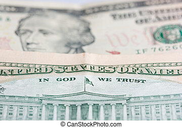 10 dollar ten - close up of a bank note of ten north...
