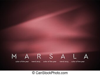 Trendy color marsala 2015. Smooth silk abstract background