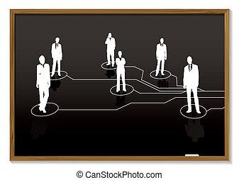 business blackboard
