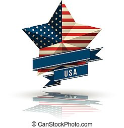 USA star in national flag.