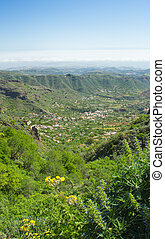 Gran Canaria, Valsequillo municipality, view towards the...