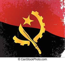 Angola Flag - The flag of the African country of Angola