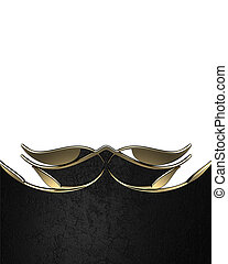 Black Pattern gold trim Design template Design site