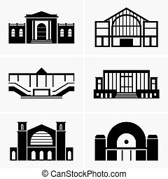 Railway stations - Set of Railway stations
