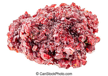 Red ruby crystal - a bright red ruby crystal ore isolated...