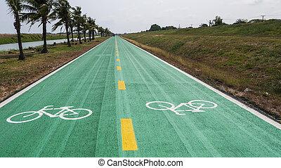 顏色, 車道, 自行車, 綠色