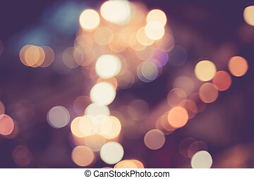 Blurred image of light defocus in shopping mall with bokeh,...