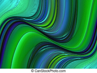 Background with green and blue plas