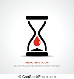 Deadline icon - Deadline vector icon