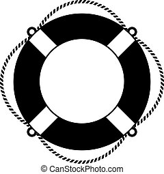 Life ring icon on white background