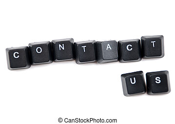 Contact us words composed with letters of computer keyboard...