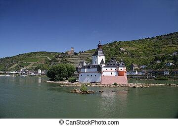 pfalzgrafenstein castle in the upper middle rhine valley