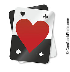 card - playing card with a big red heart