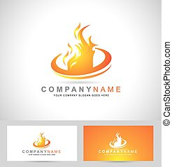 Fire Flame Logo. Creative vector logo design with hot fire...