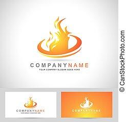 Fire Flame Logo. Creative vector logo design with hot fire...
