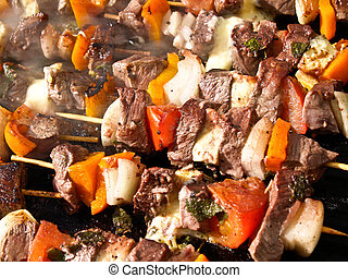 Close-up bbq. - Close-up bbq food cooking outdoors
