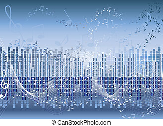 Abstract music background - Illustration of Abstract music...