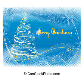 Merry Christmas card - Illustration of Merry Christmas card