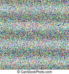 TV noise - Grey noise on the TV screen dark and color pixels...