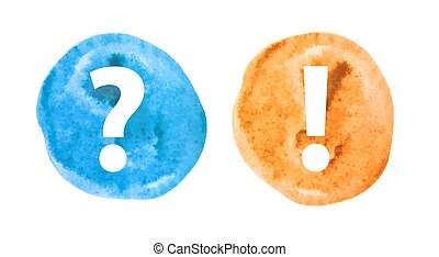 Question and Exclamation Mark Set Vector Illustration EPS10