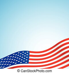 usa flag - american flag background with set of stars