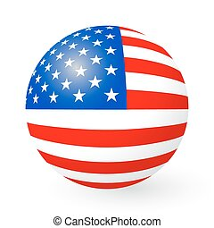 Stars and Stripes button and sticker - A vector illustration...