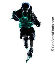 man Roller Skater inline Rollerblades silhouette - one...