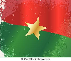 Burkina Faso Flag - The flag of the African country of...