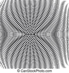 Decorative lined hypnotic contrast background. Optical...