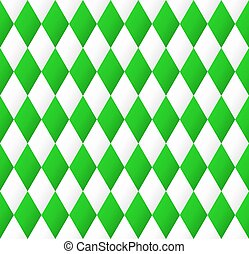 seamless diamond pattern in green and white - vector...