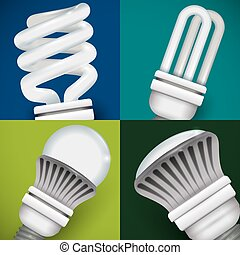 Bulb design, vector illustration - Bulb design over colorful...