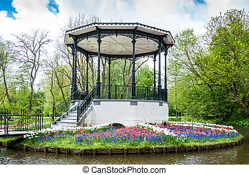 Muziekkapel in het park Vondelpark Amsterdam - Vondelpark...