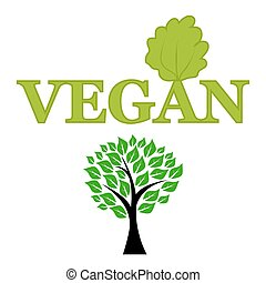 Symbol of vegetarianism and wood