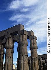 pillars of luxor temple,egypt