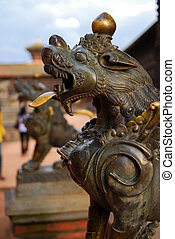 ancient sculpture of durbar square,nepal