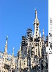 Facade buttresses - Milan Cathedral - Spires, pinnacles, and...