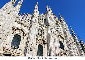 Cathedral in Milan - The cathedral church of Milan, Italy...