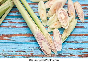 lemongrass slice aromatic fresh fragrant tom yam ingredient...