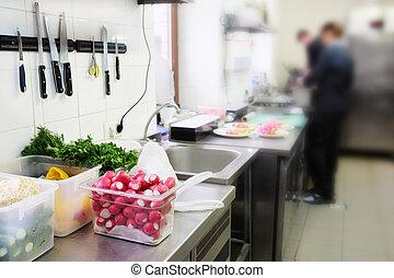 restaurant kitchen - Interior of a restaurant kitchen