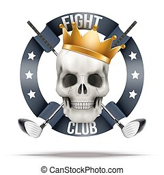 Fight club or team badges and labels logo - Fight club or...