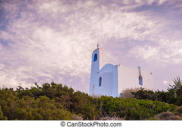 Small chuch on the hill