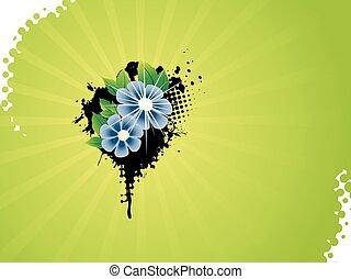 Vector flower artistic design