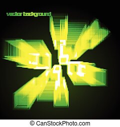 vector abstract shape in green color - Stylish abstract...