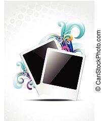 photo frame vector design