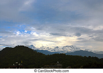 landscapes of the snow mountains,nepal