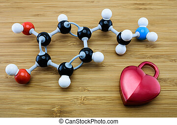 Dopamine molecular structure - Dopamine is known as love and...
