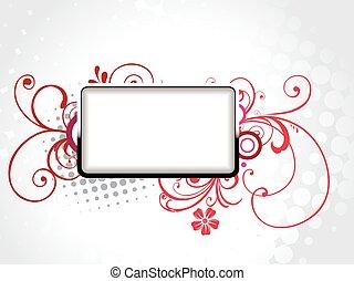 vector text frame