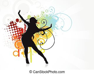 Girl dancing background
