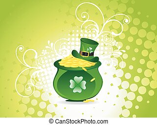 St Patricks Day Leprechaun hat with coin pot