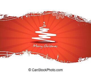 Beautiful red tree Christmas Vector - vector beatiful red...